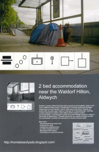 K Andrews - two bed near Waldorf Hotel - C type print on cardboard - A3